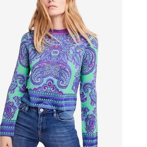 Free People New Age Cropped Sweater XS